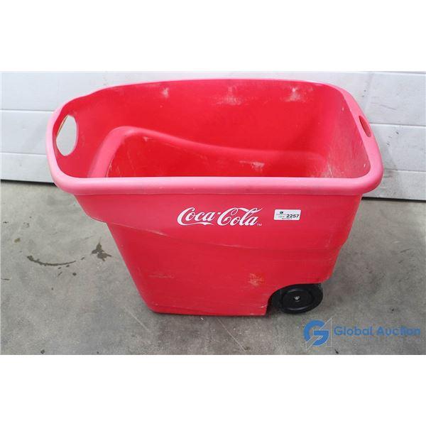 Plastic Coca-Cola Tote on Wheels