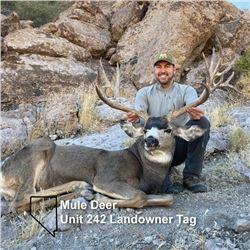 Nevada Unit 242 Landowner Deer Tag