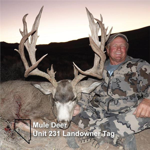 Unit 231 Landowner Deer Tag - Meadow Valley Wildlife Unlimited