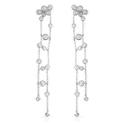 Natural 0.94 CTW Diamond Earrings 14K White Gold - REF-85Y5N