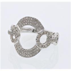 Natural 0.59 CTW Diamond Ring W=17.5MM 18K Gold - REF-111Y6N