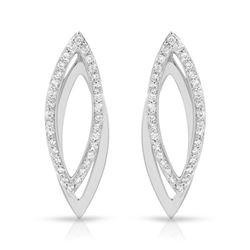 Natural 0.67 CTW Diamond Earrings 18K White Gold - REF-95M4F