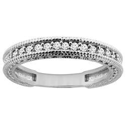 0.16 CTW Diamond Ring 14K White Gold - REF-45H4M