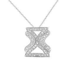 Natural 0.49 CTW Diamond Necklace 14K White Gold - REF-47M7F