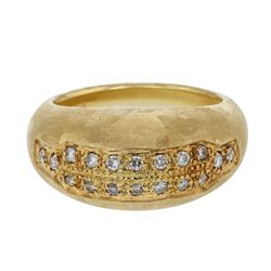 Natural 0.28 CTW Diamond Ring 18K Yellow Gold - REF-111X6T