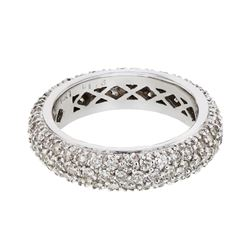 Natural 1.76 CTW Diamond Band Ring 14K White Gold - REF-134Y3N
