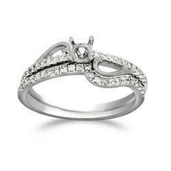 Natural 0.27 CTW Diamond Ring 14K White Gold - REF-48R6K
