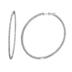 Natural 1.76 CTW Diamond Earrings 14K White Gold - REF-173M7F