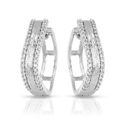 Natural 0.33 CTW Diamond Earrings 14K White Gold - REF-61R2K