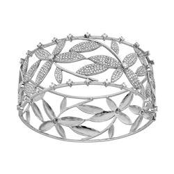 Natural 3.44 CTW Diamond Bracelet 18K White Gold - REF-873M9F