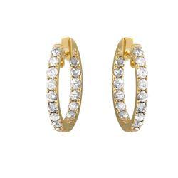 Natural 3.43 CTW Diamond Earrings 14K Yellow Gold - REF-371X7T