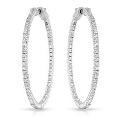 Natural 1.61 CTW Diamond Earrings 14K White Gold - REF-246Y6N