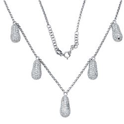 Natural 2.17 CTW Diamond Necklace 18K White Gold - REF-297Y2N