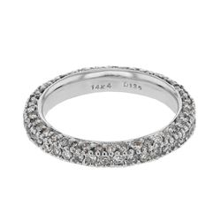 Natural 1.35 CTW Diamond Band Ring W=2.5MM 14K Gold - REF-99H9W
