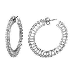 Natural 0.24 CTW Diamond Earrings 14K White Gold - REF-89Y3N