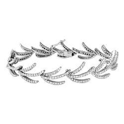 Natural 3.32 CTW Diamond Bracelet 14K White Gold - REF-287M3F