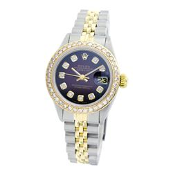 Rolex Pre-owned 26mm Womens Custom Brown Vignette Two Tone