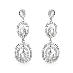 Natural 0.39 CTW Diamond Earrings 14K White Gold - REF-75X6T
