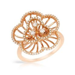 Natural 0.43 CTW Diamond Ring 14K Rose Gold - REF-56X7T