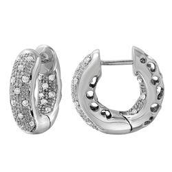 Natural 0.40 CTW Diamond Earrings 14K White Gold - REF-75M6F