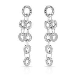 Natural 1.02 CTW Diamond Earrings 14K White Gold - REF-184R5K