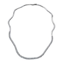 Natural 5.90 CTW Diamond Necklace 14K White Gold - REF-451R8K
