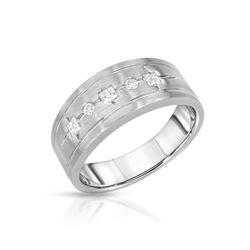 Natural 0.32 CTW Diamond & Princess Diamond Ring 14K White Gold - REF-87X3T