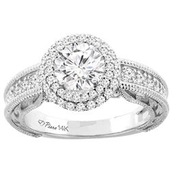 1.19 CTW Diamond Ring 14K White Gold - REF-272K7W