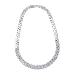 Natural 3.70 CTW Diamond Necklace 14K White Gold - REF-631T8X