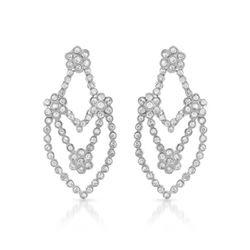Natural 2.09 CTW Diamond Earrings 14K White Gold - REF-210T6X