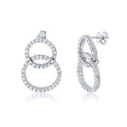 Natural 2.41 CTW Diamond Earrings 14K White Gold - REF-266W4H