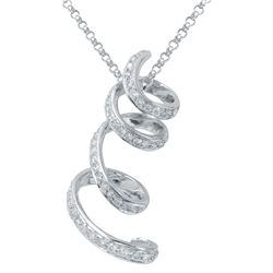 Natural 0.75 CTW Diamond & Pendant 14K White Gold - REF-124W2H