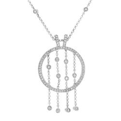 Natural 0.89 CTW Diamond Necklace 18K White Gold - REF-224K3R