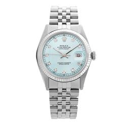 Rolex Pre-owned 36mm Mens Ligjt Blue Stainless Steel