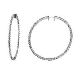 Natural 3.33 CTW Diamond Earrings 14K White Gold - REF-328T5X