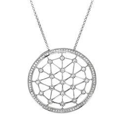 Natural 0.58 CTW Diamond Necklace 18K White Gold - REF-131F4M