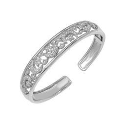Natural 0.75 CTW Diamond Bangle 18K White Gold - REF-407K7R