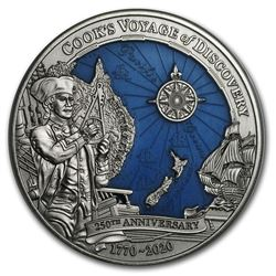 2020 Solomon Islands 3 oz Silver James Cook's Discovery