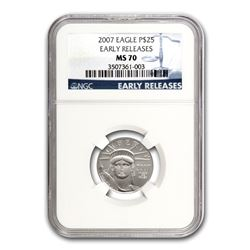 2007 1/4 oz Platinum American Eagle MS-70 NGC (Early Releases)