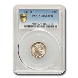 1943-D Mercury Dime MS-68 PCGS (FB)