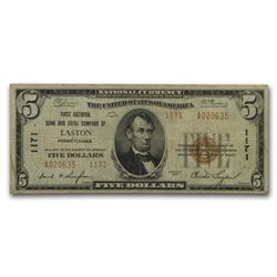 1929 Type 2 $5.00 Easton, PA Fine (CH#1171)