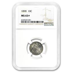 1890 Liberty Seated Dime MS-65+ NGC