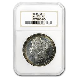 1887 Morgan Dollar MS-63 DPL NGC