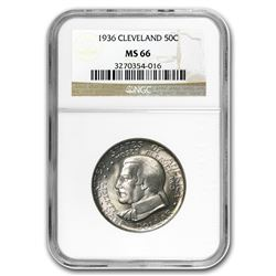 1936 Cleveland/Great Lakes Half Dollar MS-66 NGC