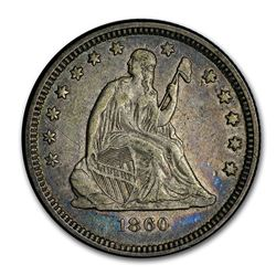 1860-O Liberty Seated Quarter XF (Details)