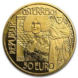 2016 Austria Gold Proof '¬50 Klimt Series (The Kiss)