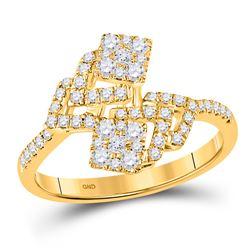 14kt Yellow Gold Womens Round Diamond Fashion Ring 1/2 Cttw