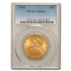 1901 $10 Liberty Gold Eagle MS-64+ PCGS