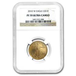 2010-W 1/4 oz Proof Gold American Eagle PF-70 NGC