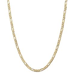 14k Yellow Gold 4.50 mm Concave Open Figaro Chain - 26 in.